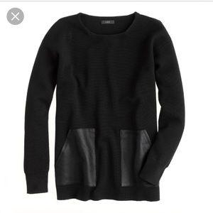 J.Crew merino leather pocket sweater